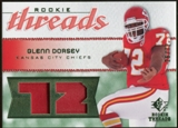 2008 Upper Deck SP Rookie Threads Patch Jersey Number #RTGD Glenn Dorsey /72