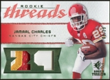 2008 Upper Deck SP Rookie Threads Patch Jersey Number #RTJC Jamaal Charles /29