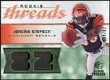 2008 Upper Deck SP Rookie Threads Patch Jersey Number #RTSI Jerome Simpson /82