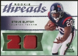 2008 Upper Deck SP Rookie Threads Patch Jersey Number #RTSS Steve Slaton /20