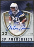 2008 Upper Deck SP Rookie Threads SP Authentics #SPAC Antoine Cason Autograph /244