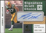 2008 Upper Deck SP Rookie Threads Signature Draft Choice #SDCJN Jordy Nelson Autograph /180