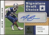 2008 Upper Deck SP Rookie Threads Signature Draft Choice #SDCMJ Mike Jenkins Autograph /99