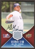 2009 Upper Deck USA National Team Jersey Autographs #MM Mike Minor Autograph /225