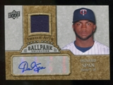 2009 Upper Deck Ballpark Collection Jersey Autographs #DS Denard Span Autograph