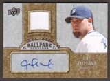 2009 Upper Deck Ballpark Collection Jersey Autographs #JZ Joel Zumaya Autograph