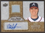 2009 Upper Deck Ballpark Collection Jersey Autographs #KJ Kelly Johnson Autograph