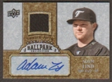 2009 Upper Deck Ballpark Collection Jersey Autographs #LI Adam Lind Autograph