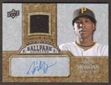 2009 Upper Deck Ballpark Collection Jersey Autographs #NY Nyjer Morgan Autograph