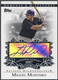 2007 Topps Moments and Milestones #MM Miguel Montero Rookie Auto