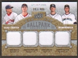 2009 Upper Deck Ballpark Collection #208 James Shields Jonathan Papelbon Josh Beckett Brandon Morrow /400