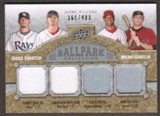 2009 Upper Deck Ballpark Collection #226 Jonathan Papelbon James Shields Chris B. Young Hunter Pence /400