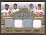 2009 Upper Deck Ballpark Collection #253 Melvin Mora Nick Markakis Justin Verlander Miguel Cabrera /400
