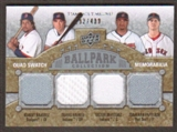 2009 Upper Deck Ballpark Collection #275 Manny Ramirez Jonathan Papelbon Travis Hafner Victor Martinez /400