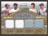 2009 Upper Deck Ballpark Collection #284 Troy Tulowitzki Hank Blalock Yunel Escobar Melvin Mora /500