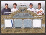 2009 Upper Deck Ballpark Collection #299 Troy Tulowitzki Ian Kinsler Prince Fielder Melvin Mora /400