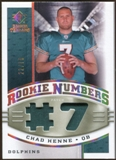 2008 Upper Deck SP Rookie Threads Rookie Numbers Holofoil Patch 75 #RNCH Chad Henne /75