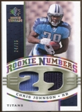 2008 Upper Deck SP Rookie Threads Rookie Numbers Holofoil Patch 75 #RNCJ Chris Johnson /75