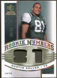 2008 Upper Deck SP Rookie Threads Rookie Numbers Holofoil Patch 75 #RNDK Dustin Keller /75