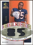 2008 Upper Deck SP Rookie Threads Rookie Numbers Holofoil Patch 75 #RNEB Earl Bennett /75