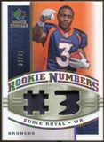 2008 Upper Deck SP Rookie Threads Rookie Numbers Holofoil Patch 75 #RNER Eddie Royal /75
