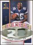 2008 Upper Deck SP Rookie Threads Rookie Numbers Holofoil Patch 75 #RNFJ Felix Jones /75
