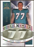 2008 Upper Deck SP Rookie Threads Rookie Numbers Holofoil Patch 75 #RNJL Jake Long /75