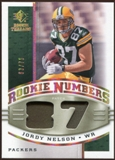 2008 Upper Deck SP Rookie Threads Rookie Numbers Holofoil Patch #RNJN Jordy Nelson /75