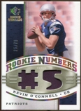 2008 Upper Deck SP Rookie Threads Rookie Numbers Holofoil Patch 75 #RNKO Kevin O'Connell /75