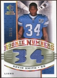 2008 Upper Deck SP Rookie Threads Rookie Numbers Holofoil Patch 75 #RNKS Kevin Smith /75