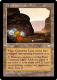 Magic the Gathering Weatherlight Single Gemstone Mine MODERATE PLAY (VG/EX)