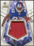 2008 Upper Deck SP Rookie Threads Rookie Super Swatch Gold Patch 25 #RSSMM Mario Manningham /25
