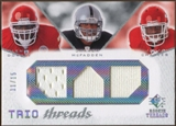 2008 Upper Deck SP Rookie Threads Trio Threads 15 #TTDMC Glenn Dorsey Darren McFadden Jamaal Charles 11/15