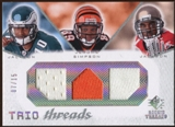 2008 Upper Deck SP Rookie Threads Trio Threads 15 #TTJJS DeSean Jackson/Jerome Simpson/Dexter Jackson 7/15