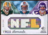 2008 Upper Deck SP Rookie Threads Trio Threads 100 #BHB Brian Brohm/Chad Henne/John David Booty 50/100