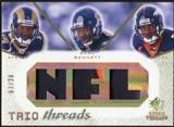 2008 Upper Deck SP Rookie Threads Trio Threads Patch 20 #TTABR Donnie Avery/Earl Bennett/Eddie Royal 3/20