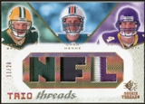2008 Upper Deck SP Rookie Threads Trio Threads Patch #TTBHB Brian Brohm Chad Henne John David Booty /20