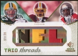 2008 Upper Deck SP Rookie Threads Trio Threads Patch #TTJNT Jordy Nelson Devin Thomas Dexter Jackson 9/20