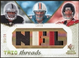 2008 Upper Deck SP Rookie Threads Trio Threads Patch 20 #TTLMR Darren McFadden/Jake Long/Matt Ryan 5/20