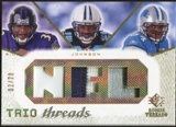 2008 Upper Deck SP Rookie Threads Trio Threads Patch #TTRJS Ray Rice Chris Johnson Kevin Smith /20
