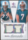 2008 Upper Deck SP Rookie Threads Dual Threads/50 #DTCM Jake Long Chad Henne /50