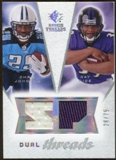 2008 Upper Deck SP Rookie Threads Dual Threads #DTRJ Chris Johnson Ray Rice /75