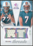 2008 Upper Deck SP Rookie Threads Dual Threads #DTCM Jake Long Chad Henne /99