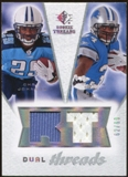 2008 Upper Deck SP Rookie Threads Dual Threads/99 #DTJS Chris Johnson Kevin Smith /99