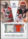 2008 Upper Deck SP Rookie Threads Dual Threads #DTSJ Dexter Jackson Jerome Simpson /99