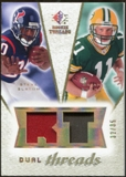 2008 Upper Deck SP Rookie Threads Dual Threads Patch/35 #DTBS Steve Slaton Brian Brohm /35