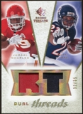 2008 Upper Deck SP Rookie Threads Dual Threads Patch #DTFC Jamaal Charles Matt Forte /35