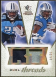 2008 Upper Deck SP Rookie Threads Dual Threads Patch #DTJS Chris Johnson Kevin Smith /35