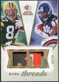 2008 Upper Deck SP Rookie Threads Dual Threads Patch #DTNB Jordy Nelson Earl Bennett /35