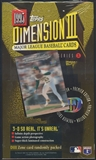 1995 Topps Dimension 3 Baseball Retail Box